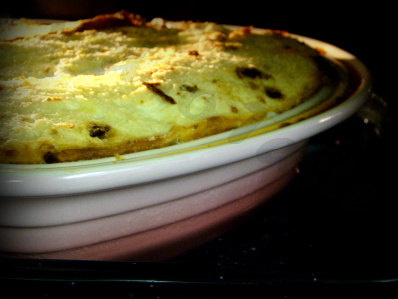 Add to taste - Bread and Butter pudding during